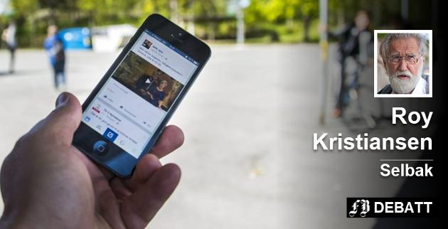 – Mange bruker mellom tre og seks timer på mobilen hver dag. Roy Kristiansen er redd fot utviklingen. Arkivfoto: Erik Hagen