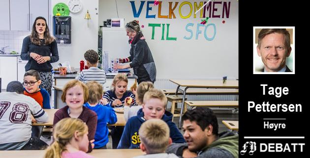 – Ap vil flytte fritidsaktivitetene inn i SFO, og på den måten gjøre SFO tilnærmet obligatorisk for alle, klager Tage Pettersen.