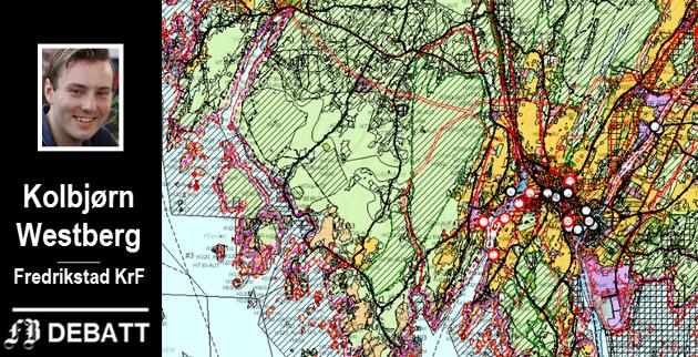 Utsnitt av forslaget til ny arealplan for 2019 - til 2031.