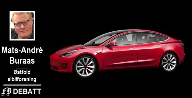 – Den har kjøregleden til Porschen, akselerasjonen til en gammel superbil og driftskostnadene til en Leaf, skriver lederen av Østfold elbilforening om Tesla modell 3.