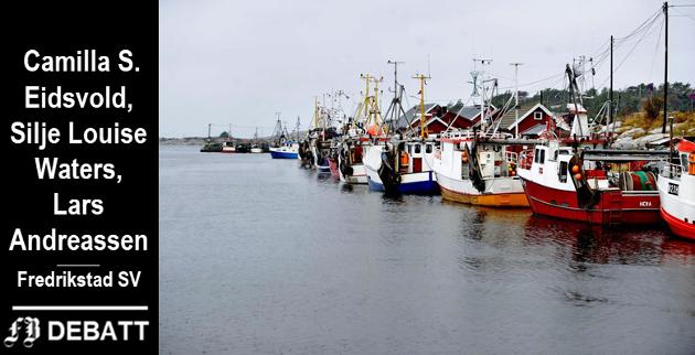 – Østfold-regionen kan spille en stor rolle i den nye industrien vi skal bygge for fremtiden. Og fremtiden er like om hjørnet, heter det i innlegget. Bilde fra fiskehavnen i Utgårdskilen på Hvaler.