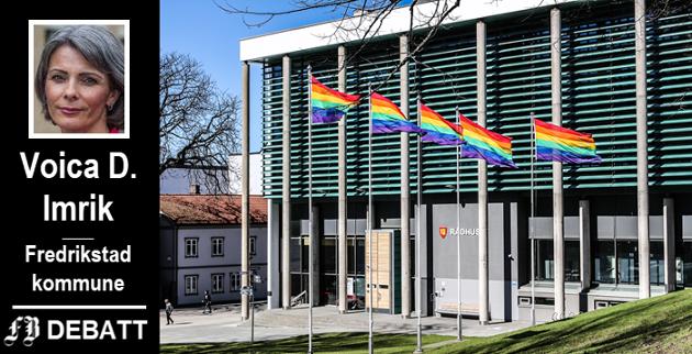 Flaggene som Bjørn Skauen reagerer på, og som i flaggreglene kommer under bestemmelsen om markering av verdistandpunkter.