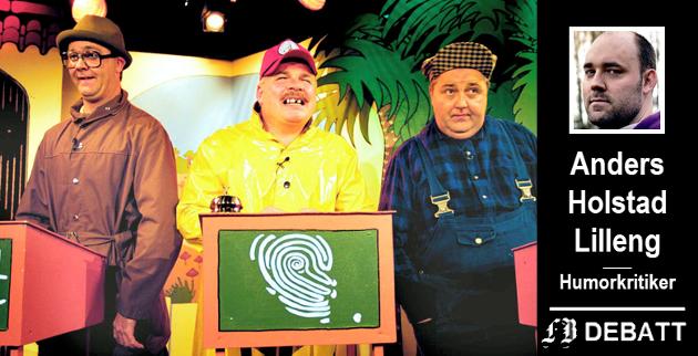 Revytrioen 3 Kæll er blant Hosltad Lillengs første nostalgiske minner fra teater-Fredrikstad. Bilde fra premieren på revyen «3 Kæll på Playa'n» på Oscar-teatret i juni 1999. Fra venstre Atle Jensen, Pål Nielsen og Øivind Johannessen spiller jeopardy.