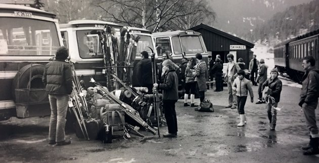 Fagernes stasjon 9. april 1979. Foto: OA-arkiv.
