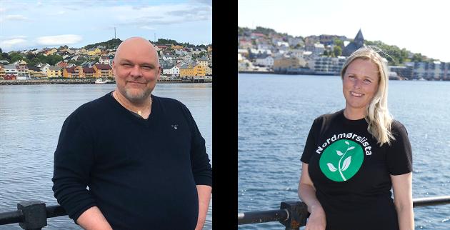 Stig Anders Ohrvik og Linda Dalseg Høvik representerer Nordmørslista i formannskapet i Kristiansund, og er medlemmer i utvalget som skal utrede regiontilknytning. Foto: Inger Johanne Ohrvik, Terje Holm.