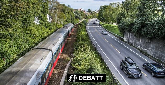 – Over hele Europa ser en at en stadig større del av godstransporten foregår på vei og ikke på bane, heter det i innlegget fra Vidar Schei og Edvard Mogstad.