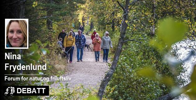 – Ett av grepene er å sikre god folkehelse er at alle har gode arealer til rekreasjon, trening og friluftsliv i sin umiddelbare nærhet, skriver Nina Frydenlund.