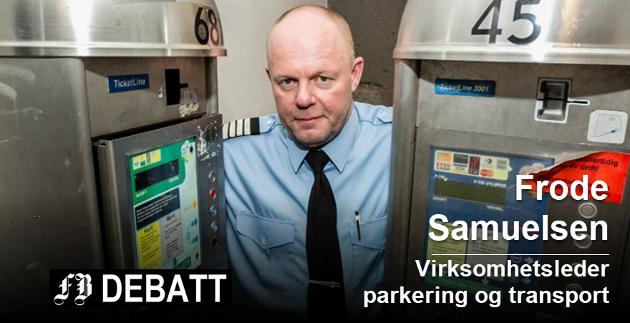 Frode Samuelsen mener parkeringspolitikken han administrerer er raus overfor Fredrikstads borgere. Foto: Christine Heim