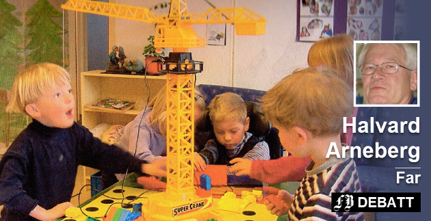 «Jeg vil også være med.» Fra Ambjørnrød barnehage 2002. Innsendt bilde