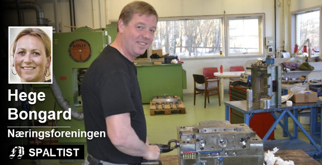 Om Be Plast er en av Fredrikstad-bedriftene Hege Bongard trekker frem. Verktøymaker Fred Olsen er en av veteranene som har bidratt til suksessen. Arkivfoto: Terje Antonsen