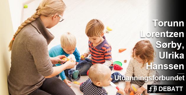 – Hvis man skal ha god kvalitet i arbeidet med å utvikle hvert enkelt barn i en sosial gruppe, krever det at man er tilstede – ikke bare på regnearket.  Foto: Colourbox