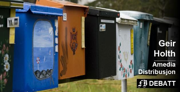 Geir Holth understreker at avisdistribusjonen ikke følger Postens kampanje for samlepostkasser. Arkivfoto: