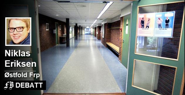 Hvor er det åpne dører? Niklas Eriksen vil innføre fritt skolevalg i Østfold, med sikte på at ordningen videreføres i den nye regionen. Arkivfoto: FB