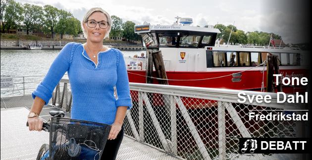 «Verdensflottestebyen»: – På vei ut til ferga må jeg jo skryte hemningsløst av kapteinen som redder dagen! forteller Tone Svee Dahl.