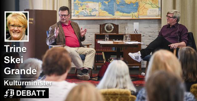 «I uenighetsfellesskap»: Erik Fosnes Hansen i samtale med Jan Ove Ekeberg under festivalen i 2016.