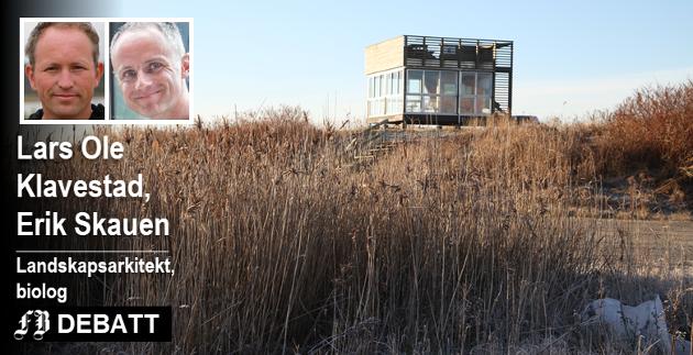 Naturlig Mål for en tur i reservatet: Klavestad og Skauen ønsker at den vedtatte opprustingen av Øra-reservatet skal gi ferskvannsdammer og ny vegetasjon i området ved fugletårnet. De forteller at det er avsatt til fyllingsområde som senere kan omdisponeres til friluftområde.