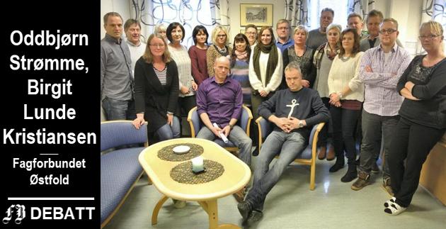 Ansatte ved kemnerkontoret i Fredrikstad frykter for arbeidsplassene etter at Regjeringen vil overføre oppgavene til staten. Bilde fra 2015 da samme forslag ble diskutert.