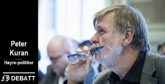 – De øvrige feil og mangel på presisjon i leserbrevet kan vi jo eventuelt ta på et gruppemøte, skriver Peter Kuran til Høyres bystyregruppe.