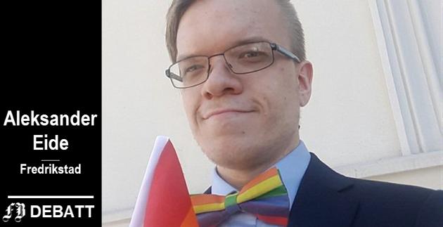 – Jeg gikk i min første Pride-parade i Oslo i 2016 og den følelsen er noe av det beste jeg har opplevd, skriver Aleksander Eide.