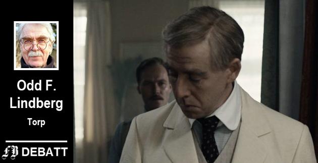 Pål Sverre Hagen (foran) som Roald Amundsen og Christian Rubeck som spiller Roald Amundsens bror Leon, får begge kritikk for å vite for lite om polarhelten.