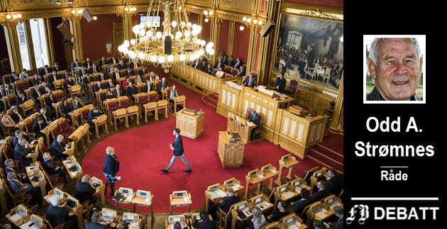 Odd A.  Strømnes har særlig stortingsvaglet om drøyt to år i tankene når han ber om ar feilvurderinger fra politikere må få konsekvenser.
