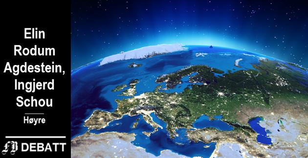– EØS-avtalen er uunnværlig for et lite land som Norge. Omtrent 80 prosent av vår totale eksport går til det Europeiske fellesskap, skriver de to stortingsrepresentantene fra Nord-Trøndelag og Østfold.