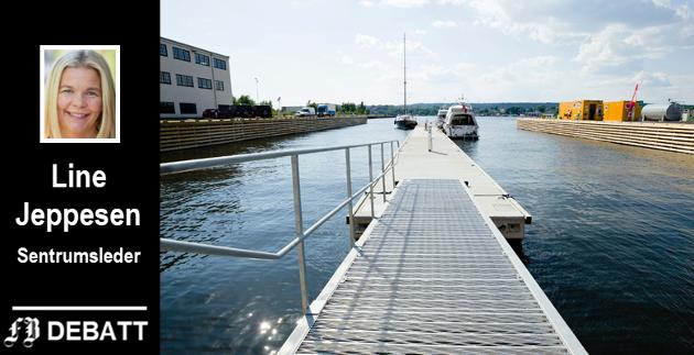 – For de fleste av Hvalers hytteturister er det faktisk ikke noe lenger inn til Fredrikstad sentrum enn til Strømstad, skriver Line Jeppesen, og vil at da kan legge til ved bryggepromenaden i stedet for gjestehavna på Værste.