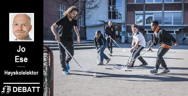 Høyskolelektoren forteller om en undersøkelse i Sarpsborg der forestillinger om utfordringer i sentrumsskolen  styrte foreldre valg selv om dette kanskje ikke var riktig.  Illustrasjonsbilde fra Trara-prosjektet om hvordan trekke alle med i fritidsaktiviteter.