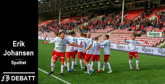 FFK, her med kaptein Eirik Mæland i front, puttet til slutt hele fem baller i nota mot Arendal. – Opprettholder vi dette, så blir det guffent for motstanderne å komme til stadion fremover, mener pølsevevet.