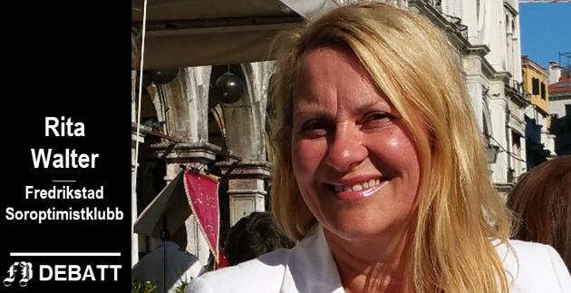 Rita Walter: – Soroptimister arbeider for å bedre levekårene for barn og kvinner lokalt, nasjonalt og internasjonalt. En del av arbeidet er rettet mot flyktninger.