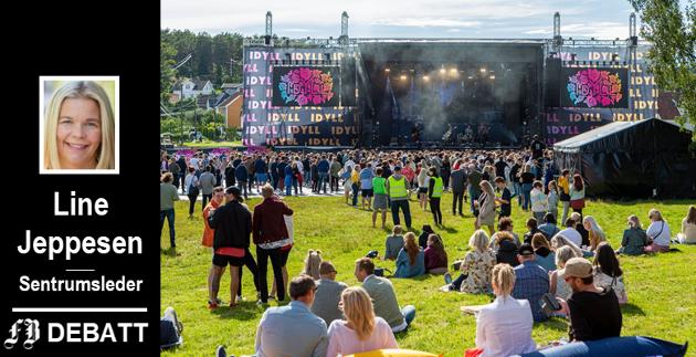 Tenker stort innen festivalutvikling: Idyllfestivalen vokste i år veldig i nye omgivelser på Isegran. – Vi elsker at dere tenker stort. Fortsett med det, jubler Line Jeppesen.