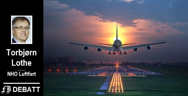 – Det pågår et kappløp i industrien og blant en rekke smarte entreprenører om å utvikle nye klimavennlige fly og motorer. Det er bare et tidsspørsmål før disse er i luften, skriver Torbjørn Lothe.