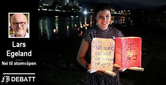 Hiroshima glemmer aldri. Nei til atomvåpens daglige leder Akari Izumi på markeringen 6. august 2019 for dagen da byen ble bombet.