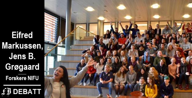 Entusiastiske Glemmen-elever fra et tidligere skoleår. Men statistikken forteller at mange sliter. Nesten én av fem som begynte på yrkesfag i Østfold høsten 2016 har avbrutt videregående.