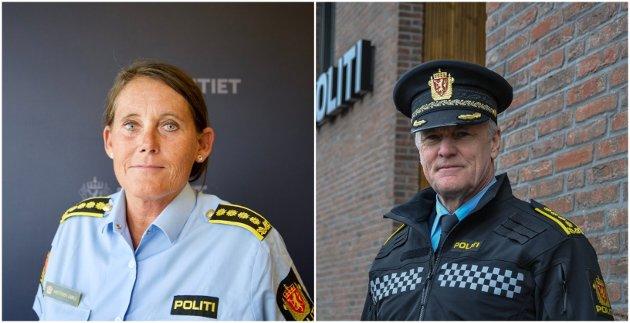 Politiinspektør og leder for felles enhet for forebygging, Nina Karstensen Bjørlø og politiinspektør og leder for geografisk enhet Vestfold, Øystein Holt.