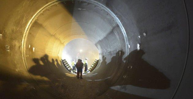 StorT: Det er store dimensjoner på tunnelen i nye Nedre Røssåga Kraftstasjon.Foto: Statkraft