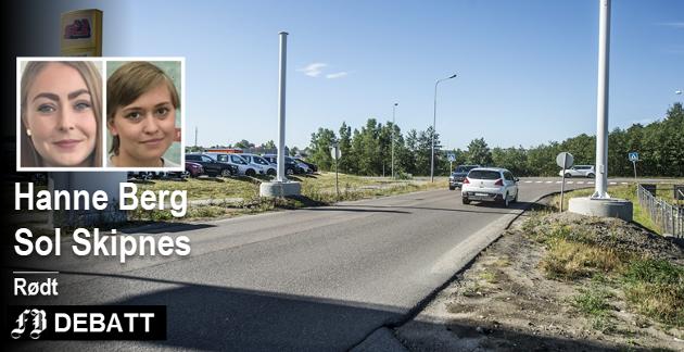 Etter planen skal bomstasjonene (blant annet her i Dikeveien) åpne neste sommer. –Fremskrittspartiet stemte for da bypakke og bompenger første ble vedtatt, skriver Hanne Berg og Sol Skipnes.