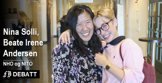De var gode teknologiambassadører under «Jenter og teknologi» i 2006.  Anne Joo Yun Marthinsen og Hedda Mathilde Sæther Langvik gikk på sciencelinja og elsket det. (Se også saken «NHO heier på jenter som disse to» nede i saken.