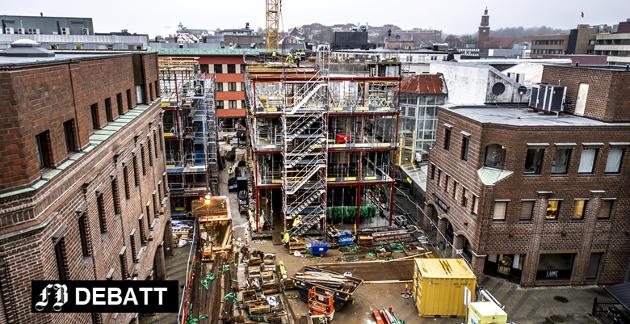 Byggeplassen Fredrikstad: På Nygaardsplassen er byggeaktiviteten i full gang, og den vil pågå inn i 2019. En rekke store prosjekter står for tur de neste årene.