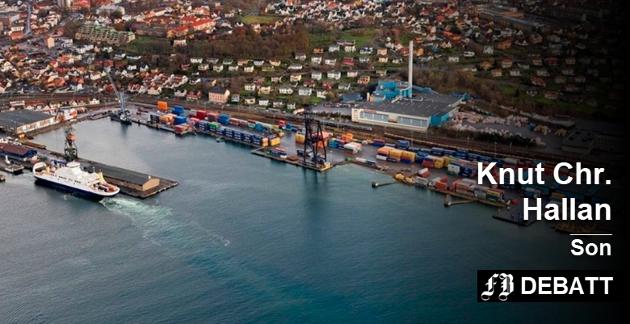 Det store stridsspørsmålet i Moss er om den fremtidige jernbanen skal gå nedom havna.  Knut Chr. Hallan mener denne traseen innebærer stor forsinkelse for utbyggingen i Fredrikstad. Arkivfoto: Terje Holm