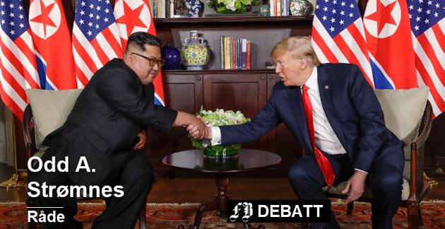 Donald Trump ble foreslått som kandidat etter toppmøtet med Nord-Koreas leder Kim Jong-un. Innlegget er skrevet før den siste tids oppstuss etter toppmøtet mellom  Trump og Putin i Helsingfors. Foto: Foto: Evan Vucci, AP/Scanpix