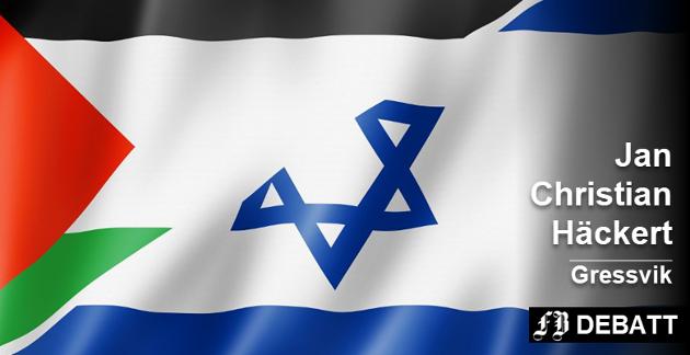 Ny dreining i israelsk favør:  – Kun jøder har selvbestemmelsesrett, skriver Häckert om den nye loven. Foto: Colourbox