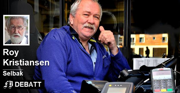 Lytt til sjåførene, heter det i innlegget. På bildet  tillitsvalgt Finn Arne Solberg som advarte mot forslaget for ett år siden. Foto: Jarl M. Andersen.