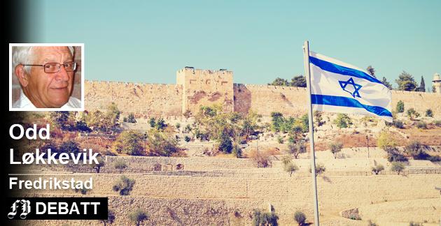Murene til Jerusalems gamleby og det israelske flagget – kjent og konfliktfylt område.