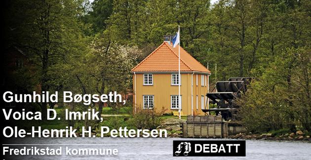 Karakteristisk for Isegran: «Det gule huset» med renessansehagen og vannhjulet som skal erstattes med et nytt. Arbeidet starter utover høsten.