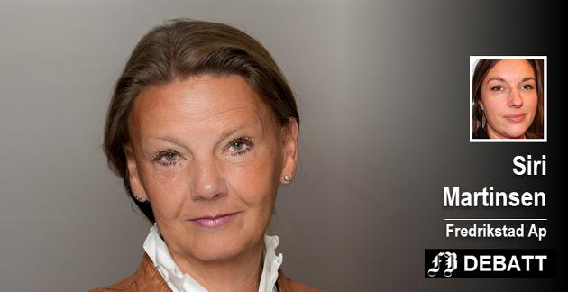 Siri Martinsen (Ap) gjentar i sitt svar til Ingjerd Schou (H) Arbeiderpartiets ønske om å prioritere fellesskapet og gi mindre skattelette til dem som har mest.