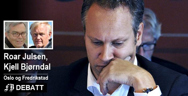 Roar Julsen og Kjell Bjørndal er kritisk til inkassovirksomheten i selskapet MAIK AS som Fredrikstad Energi eier. De stiller denne gang sine spørsmål til ordfører Jon-Ivar Nygård.  Arkivfoto: Geir A. Carlsson