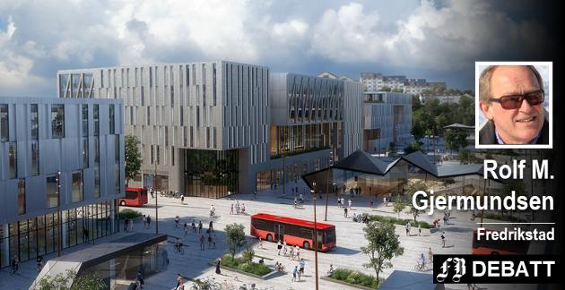 – Bør FB sjekke en gang til om etablering av nytt kollektivknutepunkt på Grønli vil løfte Fredrikstad sentrum til nye høyder? spør Rolf M. Gjermundsen.