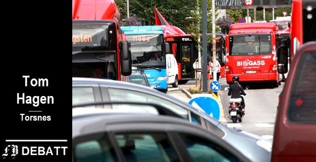 – Blir bussene stående fast i samme kø som bilistene, så blir det ikke konkurransefortrinn, sa Jostein Haug i FB.
