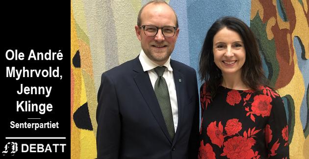 Ole André Myhrvold og Jenny Klinge, Senterpartiet